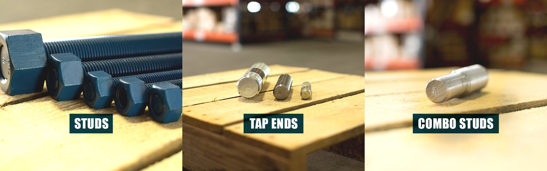 Studs, Tap Ends, Combo Studs